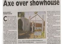 Axe Over Showhouse Article Clipping