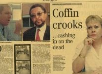 Coffin Crooks Article Clipping