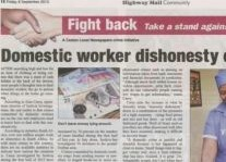 Domestic Work Dishonesty Article Clipping