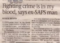 Fighting Crime Is In My Blood Says Ex-SAPS Man