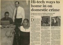 Hi-Tech Ways To Home In On Domestic Crime Article Clipping