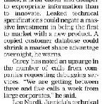 Industrial Espionage A Big Threat Article Clipping