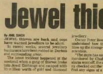 Jewel Thieves Article Clipping