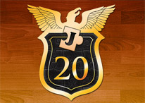 Justicia Investigations 20 Year Badge Icon
