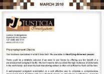 Justicia Investigations Pre-Employment Checks Article Clipping