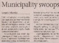 Municipality Swoops On Tyre Theft Article Clipping