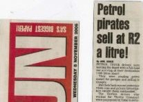 Petrol Pirates Sell At R2 A Litre Article Clipping