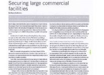 Securing Large Commercial Facilities Article Clipping