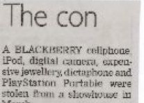 The Con Article Clipping
