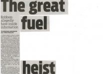 The Great Fuel Heist Article Clipping