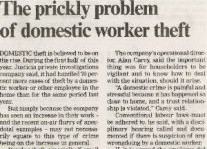 The Prickly Problem Of Domestic Worker Theft Article Clipping